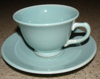 LURAY Pastels lovely GREEN Cup and Saucer SET