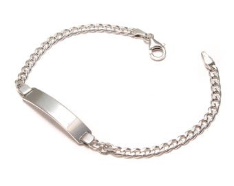 925 sterling silver bracelet with small engraving