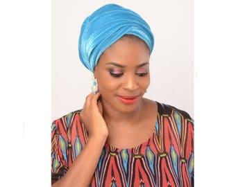 Turban head wrap for women. Velvet turban