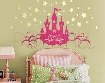 Princess Castle Wall decal ,kids, baby, girl wall decal , Children Wall Decals Wall Sticker   - 063