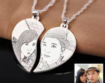 S990 Sterling Silver Personalized Necklace Customize Photo Necklace