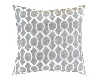 Storm Grey Pillow Cover.Gray Pillows.Geometric Pillows.Grey Toss Pillows.Gray Cushions.Euro Sham.Geometric.Grey Cushion Cover