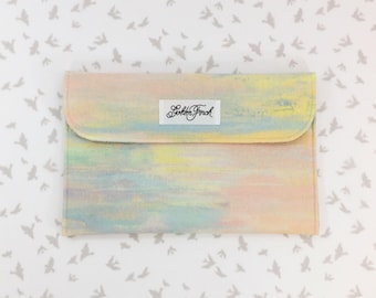 Diaper Clutch - Rifle Paper Co. Watercolor Menagerie, Watercolor Diaper Bag, Diaper Clutch, Diaper Clutch with changing pad, Zipper,
