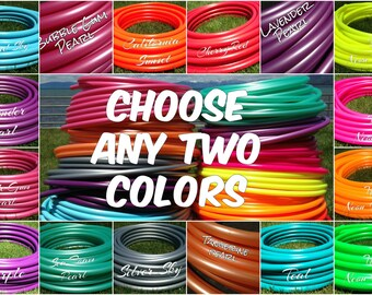 """TWO 50 ft. coils of 3/4"""" Colored Polypro hula hoop tubing - You Choose Colors Includes Insert Material"""