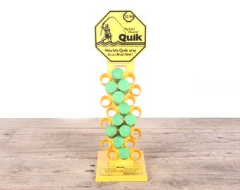 Vintage Quik Fly Fishing Line Cleaner In Store Display w/ 11 Tubes / Old Fishing Gear / Fishing Decor / Antique Fishing Decorations