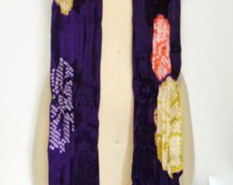 made from haori,vintage kimono,scarf