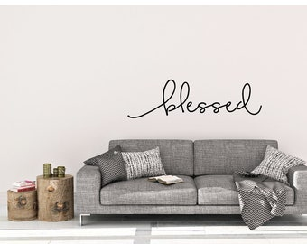 BLESSED vinyl wall decal sticker home inspirational art Free Shipping