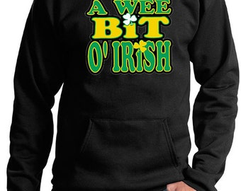 St Patrick's Day Men's Hoodie A Wee Bit Irish Hoody A10000-PC90H