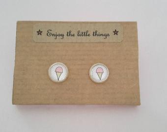 Children earrings ice cream