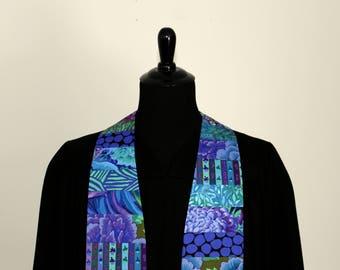 "Clergy Stole, Joyful Blue #279, Pastor Stole, Minister Stole, 54"" Length, Clergy Wear, Vestments, Church"