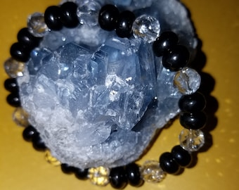 Shungite and Quartz Chrytal bracelet