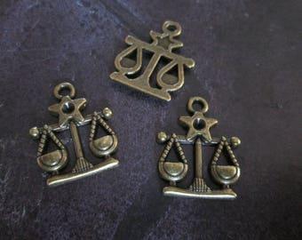 a charm of the zodiac sign Libra bronze 20 x 20 mm