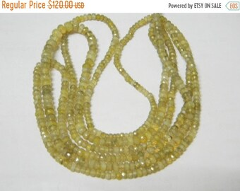 16 inch strand-- 4 - 4.50 mm approx--Fine Quality Cats Eye Micro Faceted Roundell Beads