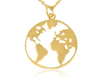 World map necklace etsy globe necklace world map gumiabroncs Image collections