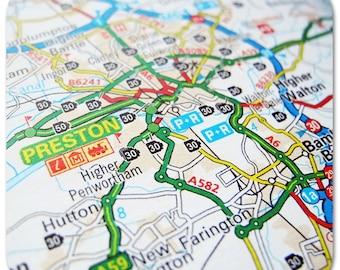 Preston Map Coasters