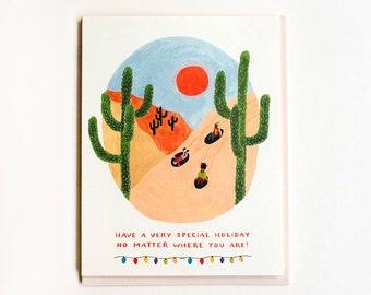 Desert Sledding Card