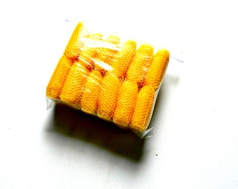 Nylon Net strips, to make crochet pot / dish scrubbers, 12 balls (8 yards long) 1.5 in wide, Shown in Sunshine yellow other colors available