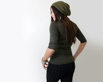 Women's Shirt • Quarter Elbow Sleeve • Long Top • Tall length • Ethically made in our USA loft • L415&Co Clothing (#415-541)