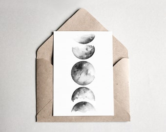 Moon Live Watercolor Postcard | A6 | Kunstdruck