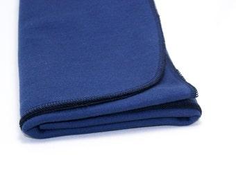 Blue Swaddle Blanket, Baby Swaddler, Baby Receiving Blanket, Navy/Black/Pink Newborn Swaddle Blanket, Lightweight Blanket