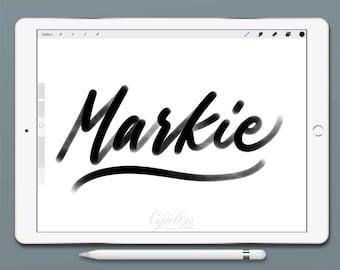 Procreate Brush, Markie