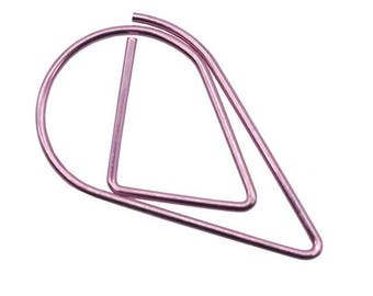 50 PCS Teardrop Paper Clips Purple Raindrop Metal Paper Clip, Paper Clips, Binder Paper Clip