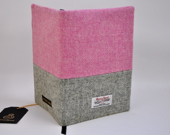 HARRIS TWEED fabric Notebook cover - Horizontal Color Block (notebook included)
