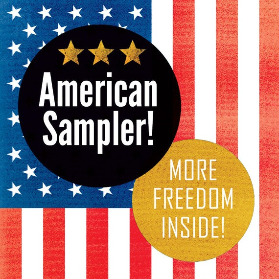 AMERICAN SAMPLER! Americana! Art and Design Prints by Rob Ozborne