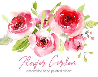 Watercolour Flowers Etsy