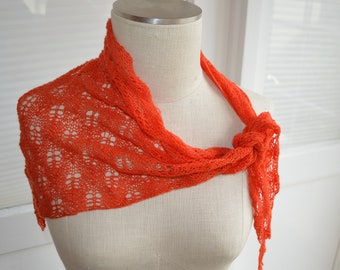 Orange lace scarf