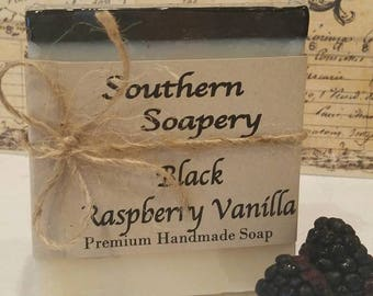 Black Raspberry Vanilla Soap * Black and White Soap