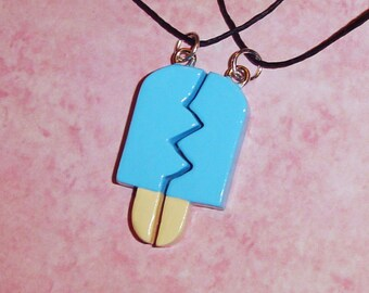 Kingdom Hearts - Friendship Sea Salt Ice Cream Necklaces