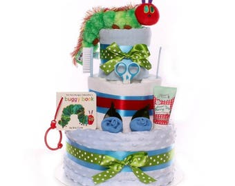 The Very Hungry Caterpillar Nappy Cake.