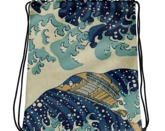 Great Wave of Kanagawa, Hokusai - Drawstring bag