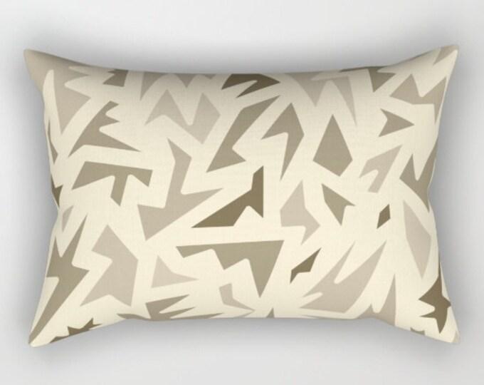 Brown Rectangular Bed Pillow Cover Includes Pillow Insert - Lumbar Pillow - Bedroom Decor  - Made to Order