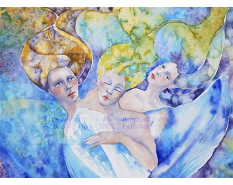 Watercolor painting, Goddess painting, 8 x 10 Giclee print, spiritual painting,