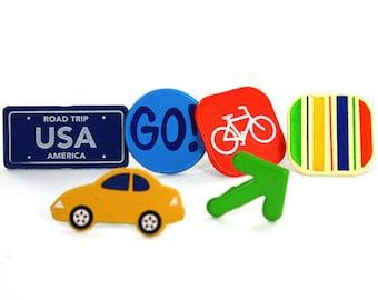 Brads / 12 / Travel USA License Plate Yellow Car Bike Arrow Go