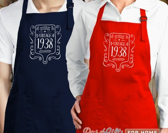80th Birthday, 1938 Birthday, Full Length Apron, 80th Birthday Idea, 80th Birthday Present, 80th Birthday Gift,  For The Lucky 80 Year Old!