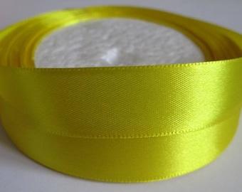 10 m yellow 20mm satin ribbon