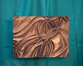 Wood wall art, home decor, bas-relief sculpture, woodcarving