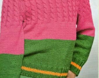 Melon Sweater for Little Girls
