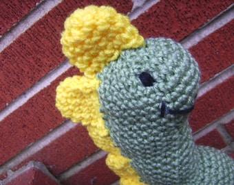 Crochet Plush Green Dinosaur Stuffed Toy