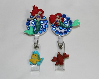 Little mermaid ID holder**FREE SHIPPING**