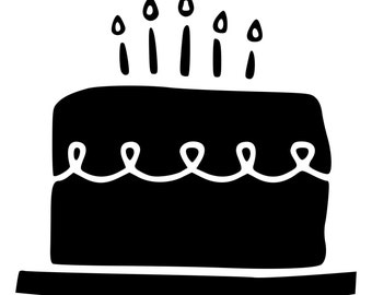 Birthday Cake Die-Cut Decal Car Window Wall Bumper Phone Laptop