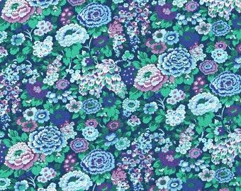 Liberty Tana Lawn fabric Elysian bleu -  carré de 20 cms x 20 cms idéal DIY