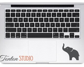 Elephant Macbook Decal Sticker - Elephant Sticker - Elephant Decal - Elephant Vinyl Decal - Inside Laptop Trackpad Macbook Air Pro - H001