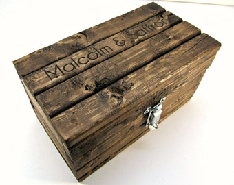 Made to Order: Personalized Keepsake Box with Lockable Latch, Small Storage Box, Rustic Wooden Gift Box, Engraved Memento Box, Jewelry Box