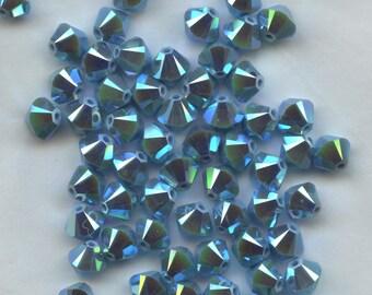 T6 5301  TQK *** 15 bicone beads crystal Swarovski 6mm  TURQUOISE AB 2X