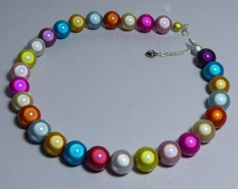 Festival Miracle Bead / Glow bead Necklace  or choker - Spring/Summer/carnival colours
