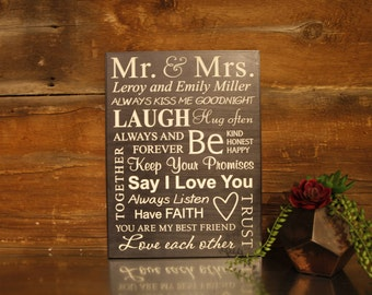 Mr. & Mrs. Personalized Wedding Plaque